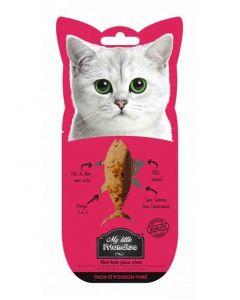 My little Friandise Filet de thon et poisson fumé pour chat 30 g- La Compagnie des Animaux