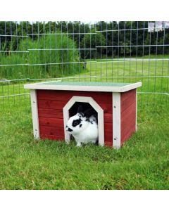 Natura habitat pour petits animaux 50 × 30 × 37 cm bois rouge / blanc