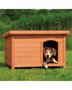 Natura Niche à toit plat brun pour chiens 85 x 58 x 60 cm