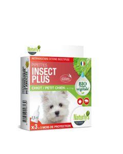 Naturlys pipettes insect plus Bio chiot et petit chien x3