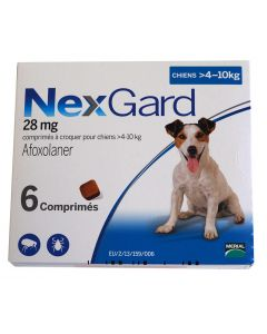 Nexgard Chiens 4 à 10 kg 6 cps- La Compagnie des Animaux