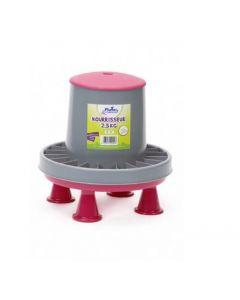 Plume & Compagnie nourrisseur plastique sur pieds 2,5 kg