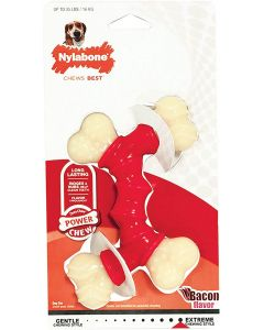 Nylabone Power Chew Double Bone os au bacon M - La Compagnie des Animaux
