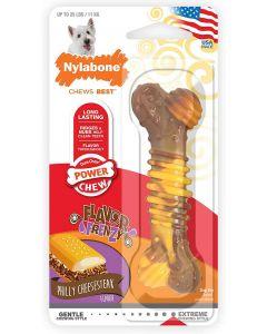 Nylabone Power Chew Texture Bone steak & fromage S - La Compagnie des Animaux