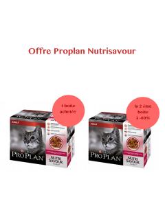 Offre Purina Proplan Cat Nutrisavour Adult Canard 1 boite achetée = la 2ème à -60%