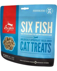 Orijen Six Fish Cat Treats chat - La Compagnie des Animaux
