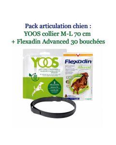 Pack articulation -10% : YOOS Collier M-L 70 cm + Flexadin Advanced 30 bouchées