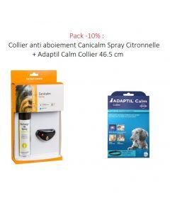 Pack -10% : Collier anti aboiement Canicalm Spray Citronnelle + Adaptil Calm Collier 46.5 cm