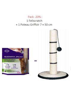 Pack -20% : 1 Feliscratch + 1 Poteau Griffoir 7 × 50 cm