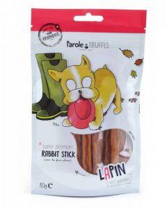 Parole de Truffes Friandises Bâtonnets de lapin pour chien 80 g- La Compagnie des Animaux