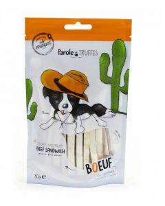 Parole de Truffes Friandises Sandwich de boeuf pour chien 80 g- La Compagnie des Animaux