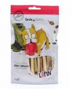 Parole de Truffes Friandises Sandwich de lapin pour chien 80 g- La Compagnie des Animaux