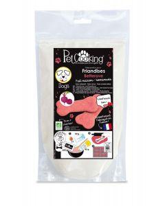 PetCooking Préparation Friandises Biscuits Betterave pour chien 200 g