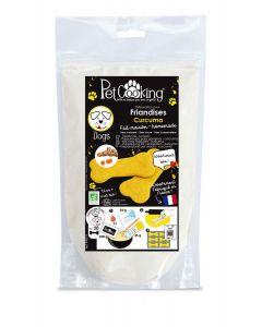 PetCooking Préparation Friandises Biscuits Curcuma pour chien 200 g