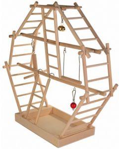 Trixie Plateau de jeu en bois avec échelles pour oiseau