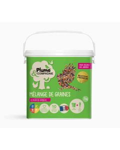 Plume & Compagnie Mélange de graines pour oiseaux du jardin 7 kg