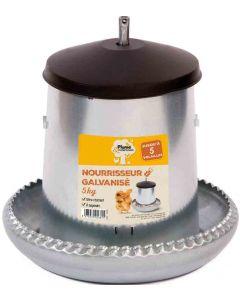 Plume & Compagnie Nourrisseur galvanisé pour poules 5 kg