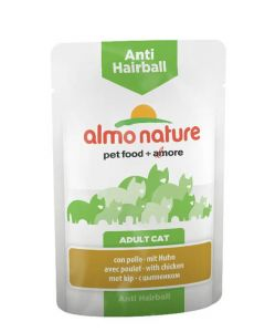 Almo Nature Chat Anti Hairball Poulet 30 x 70 grs