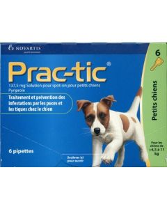 Prac-Tic Petits Chiens 6 pipettes
