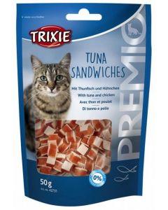Trixie Premio Thon et poulet sandwiches pour chat 50 grs