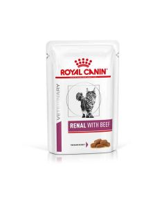 Royal Canin Veterinary Cat Renal Boeuf Sachet 12 x 85 grs