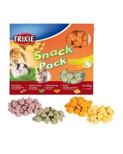 Trixie Snack Pack friandises pour petits animaux 4 × 35 g