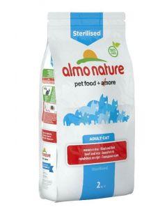 Almo Nature Chat Holistic Sterilised Boeuf et riz 2 kg - La Compagnie des Animaux