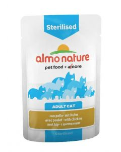 Almo nature Chat Sterilised Poulet 30 x 70 grs