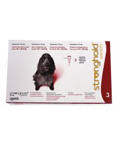 Stronghold 120 mg Chien 10-20 kg 3 pipettes- Dogteur