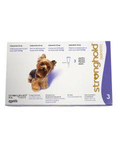 Stronghold 30 mg Chien moins de 5 kg 3 pipettes- Dogteur