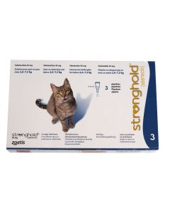 Stronghold 45 mg Chat 2,5 à 7,5 kg 3 pipettes- Dogteur