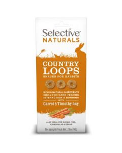 Supreme Selective Naturals Country Loops pour Lapin 80 g - La Compagnie des Animaux