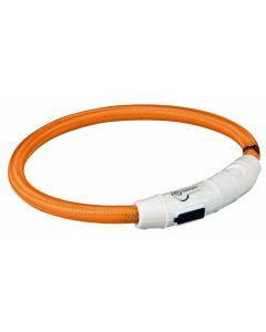 Trixie Collier Lumineux Safer Life USB Flash orange pour chien M-L