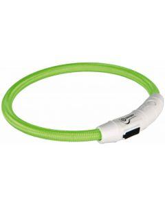 Trixie Collier Lumineux Safer Life USB Flash vert pour chien L-XL