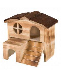 Trixie Natural Living Maison Kasja en bois flammé Souris et Hamsters