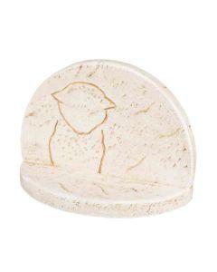 Trixie Pierre commémorative avec contour de chat 16 × 12 × 7 cm