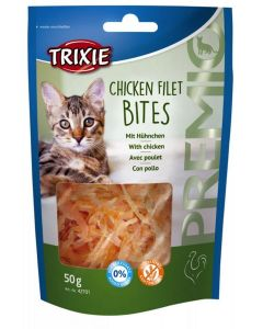 Trixie Premio Chicken Filet Bites pour chat 50 g- La Compagnie des Animaux