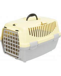 Trixie Box de transport Capri gris clair / jaune taille 1 - La Compagnie des Animaux