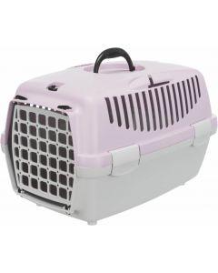 Trixie Box de transport Capri gris clair / mauve - La Compagnie des Animaux