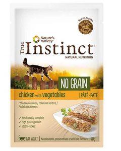 True Instinct No Grain Chat Poulet pochon 70 g - La Compagnie des Animaux