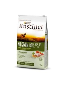 True Instinct No Grain Medium Maxi Adult Poulet 12 kg - La Compagnie des Animaux