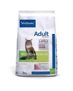 Virbac Veterinary HPM Adult Neutered & Entire Cat Saumon 3 kg- La Compagnie des Animaux