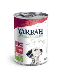 Yarrah Bio Bouchées boeuf et poulet en sauce aux orties et tomate pour chien 12 x 405 grs