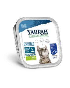 Yarrah Bio Bouchées de poisson à la spiruline pour chat 16 x 100 grs- La Compagnie des Animaux