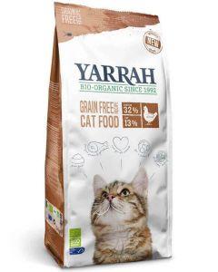 Yarrah Bio croquettes au poulet et poisson sans céréales (Grain Free) pour chat 2,4 kg