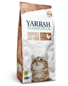 Yarrah Bio croquettes au poulet et poisson sans céréales (Grain Free) pour chat 800 grs- La Compagnie des Animaux