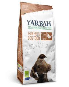 Yarrah Bio Croquettes sans céréales (Grain Free) au poulet pour chien 10 kg