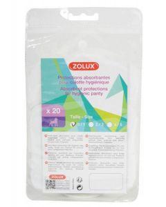 Zolux protections absorbantes pour culotte hygiénique T0-T1 x20
