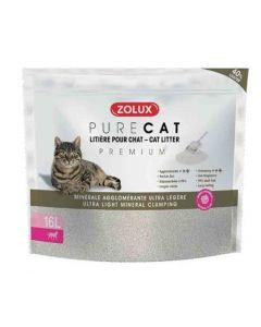 Zolux PURECAT Litière minérale agglomérante Premium pour chat 16 L