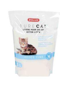 Zolux PURECAT Litière silice fine pour chaton 5 L